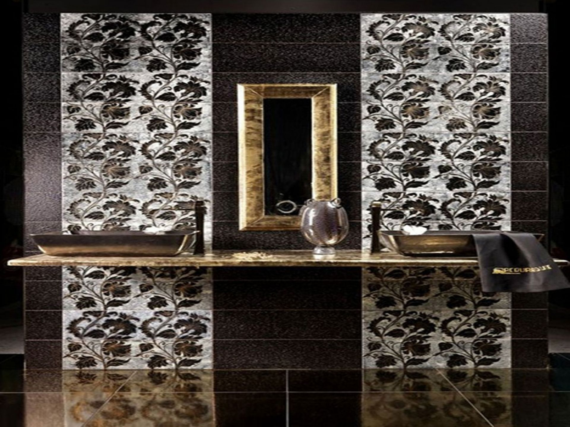 Mosaic Tile Shower Ideas: Mosaic Bathroom Tile Designs Decorating Ideas With Floral