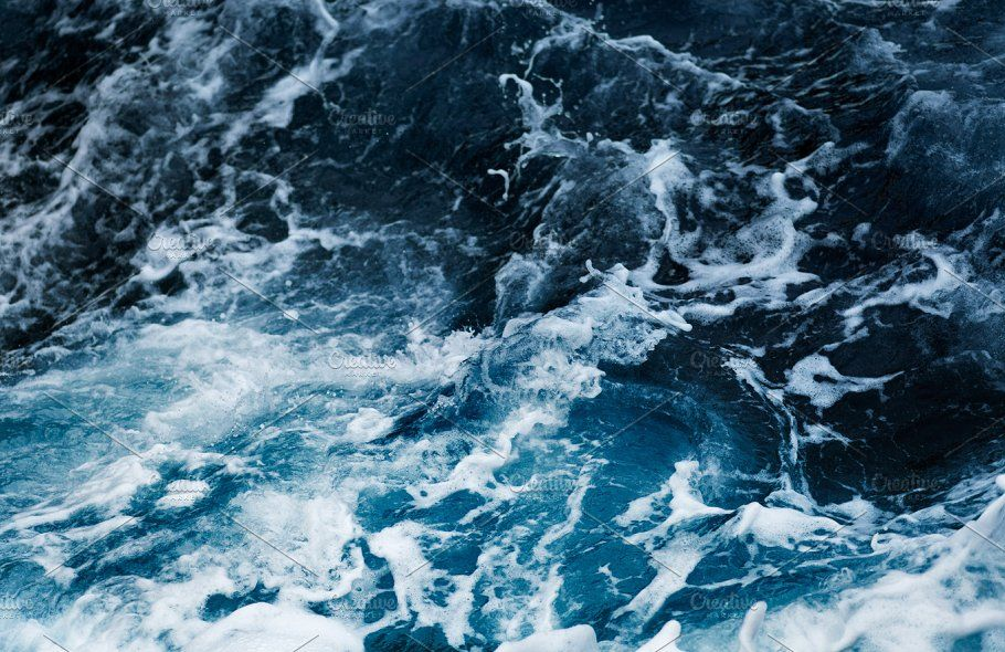 Blue Ocean Wave Ocean Waves Blue Ocean Blue Aesthetic