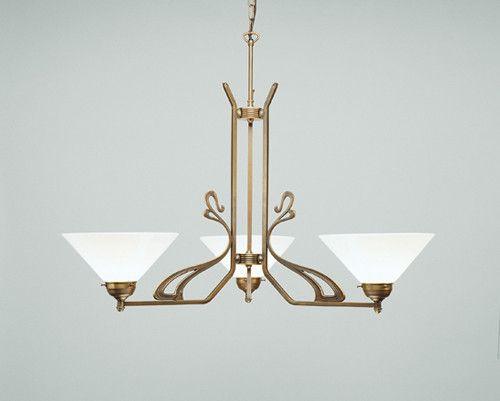 Art nouveau chandelier with geometrical motif pinterest art nouveau chandelier with geometrical motif aloadofball Image collections
