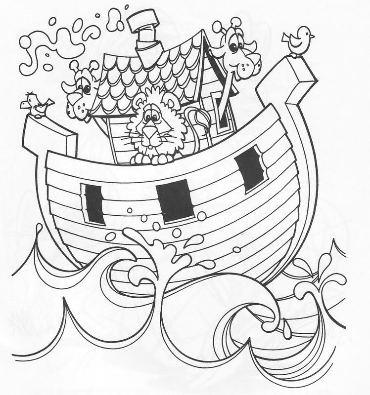 Ark of noah coloring pages | Dibujos Biblia | Pinterest | Kreativ