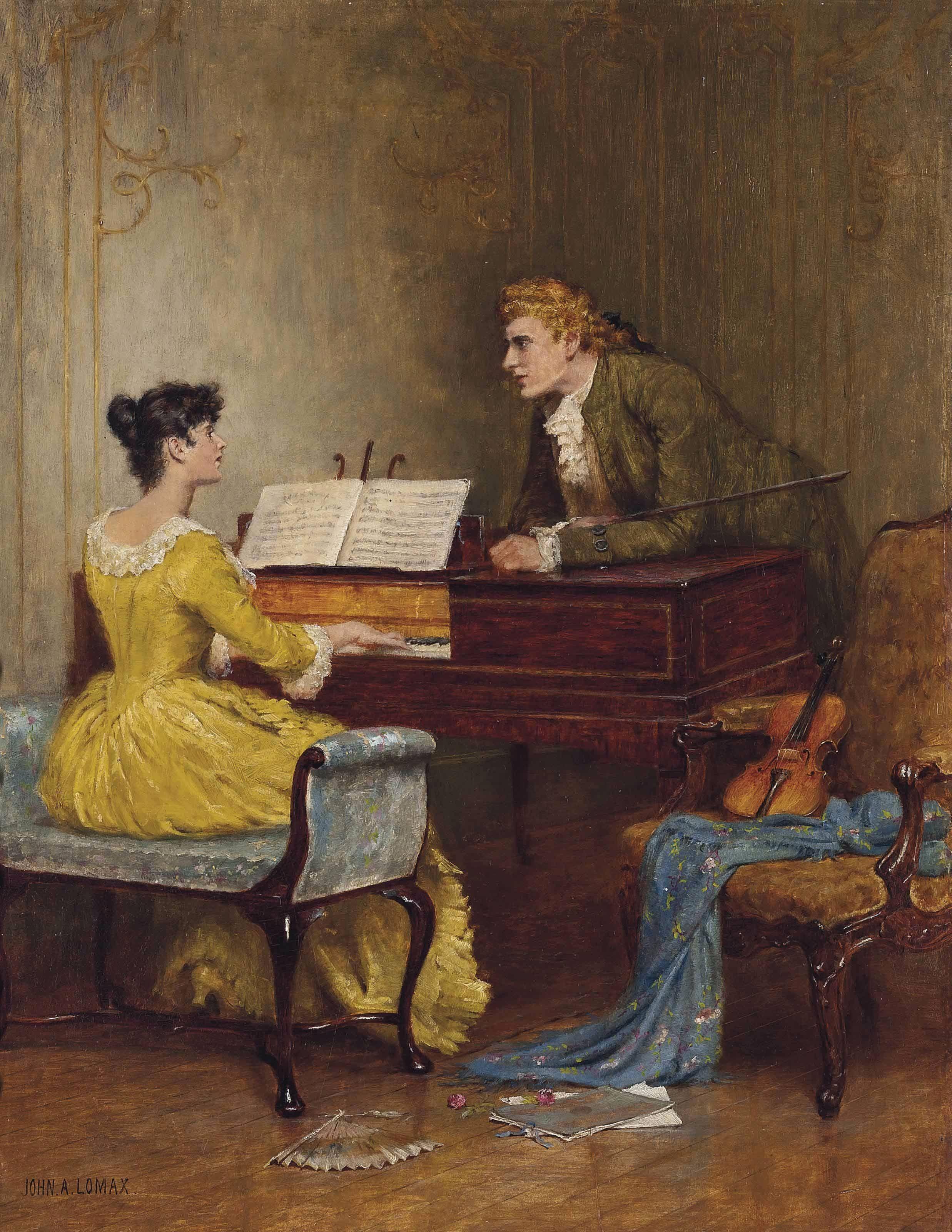A Musical Interlude By John Arthur Lomax 1857 1923 Art Romantic Art Classic Art
