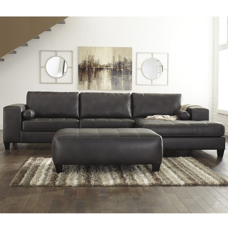 The Ashley Nokomis Gray Oversized Sectional From Ashley