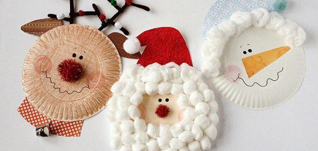 8 Manualidades para Navidad con platos desechables Platos - manualidades para navidad