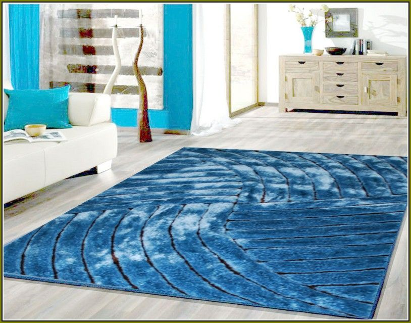 Blue area rug for living room 5x7 size interior rugs