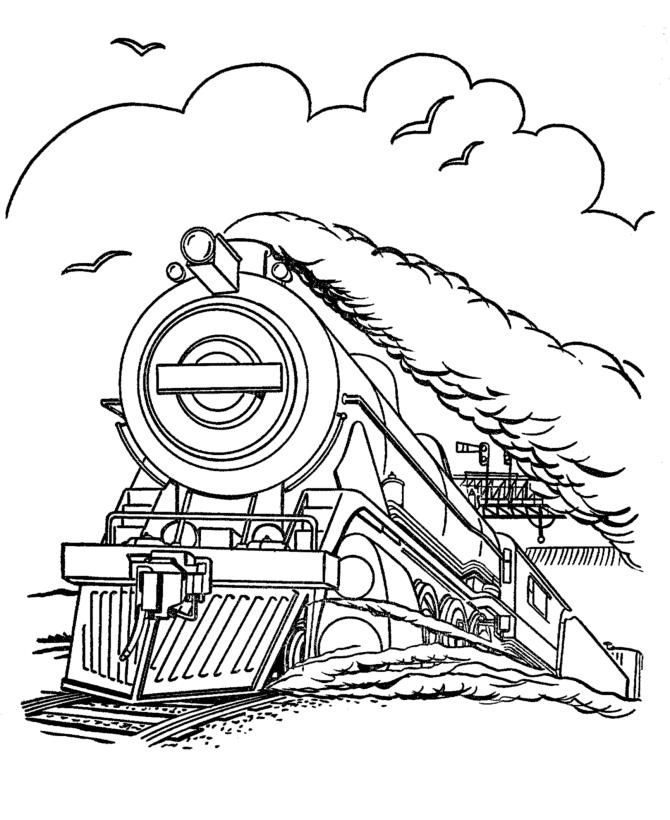 Free Printable Train Coloring Pages For Kids | Pinterest | Train car ...