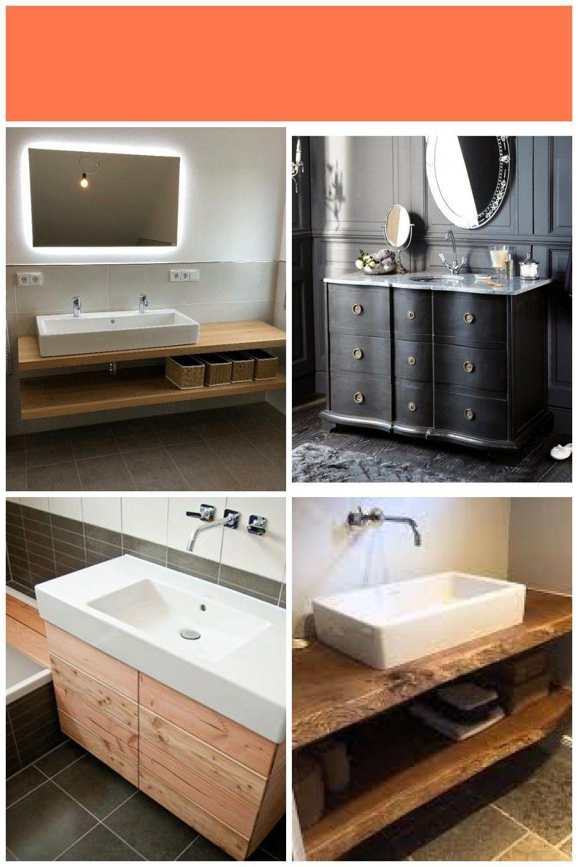 Badezimmer Unterschrank Waschtisch Ideen Holz Selber Bauen
