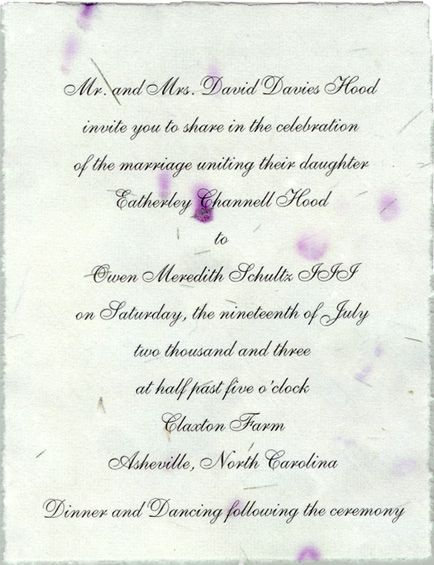 Homemade paper invitation ideas pinterest wedding wedding and invitations from handmade paper wedding invitations custom made with pressed and dried flower recycled seed and petal options solutioingenieria Gallery