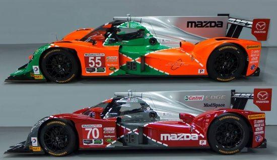 Vette livery's op racewagens: Mazda snapt het