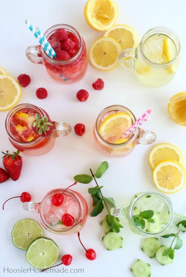 Lemonade Recipe   Plus recipes for Flavored Lemonade #flavoredlemonade
