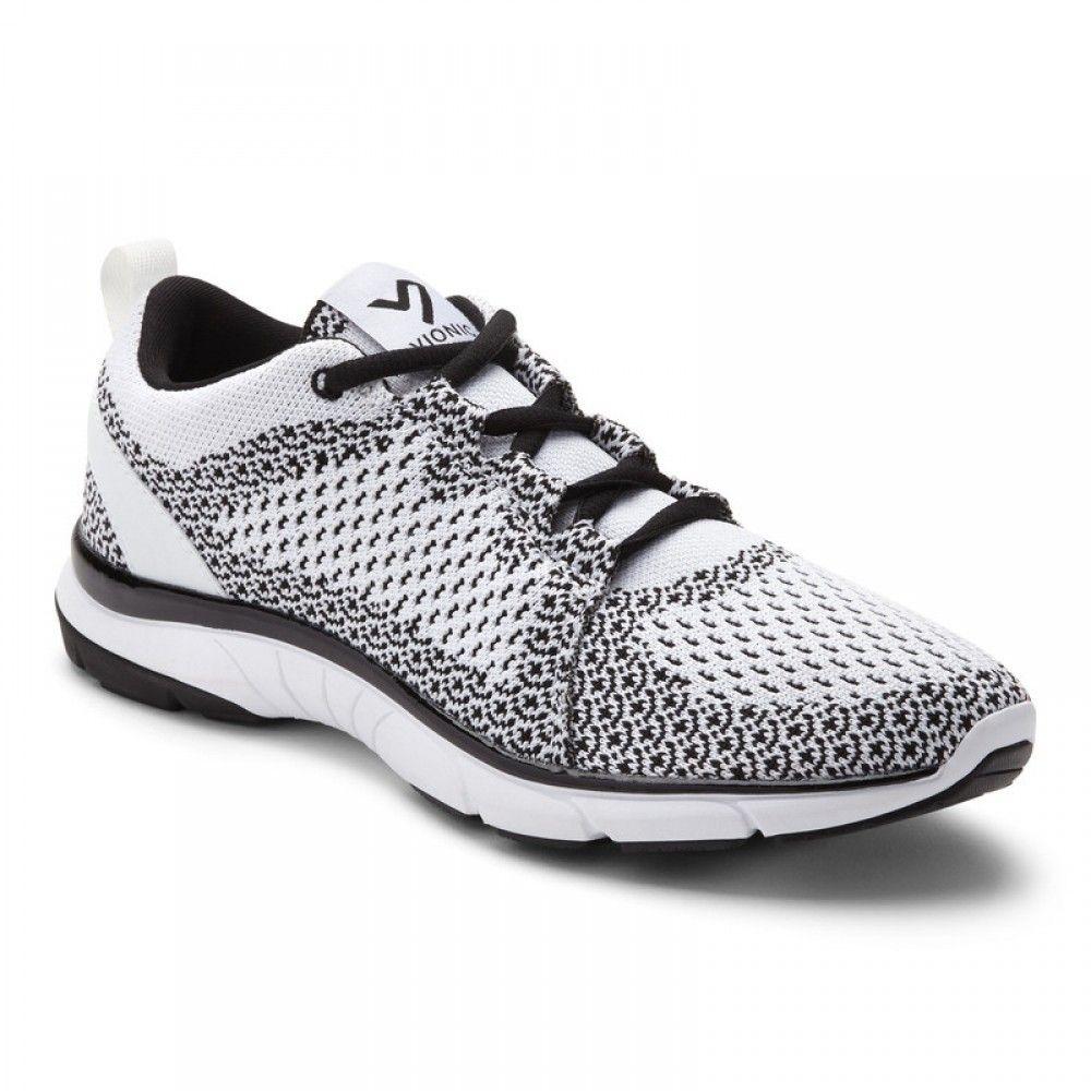 fc307bc5a83b3 Winter Sale   Size 8.5 white black sierra sneaker Vionic Shoes Knit Sneakers,  Black Sneakers