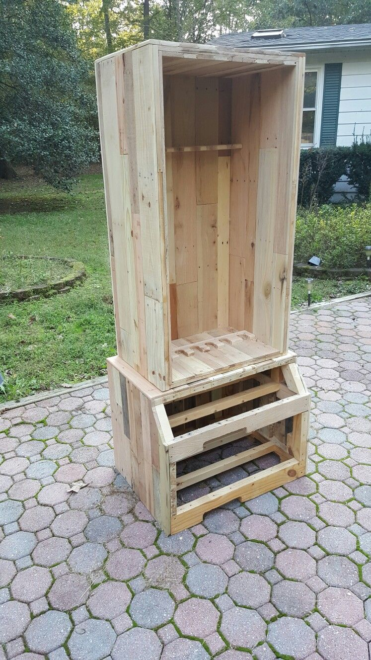 Pin on Gun Cabinet made from pallet wood