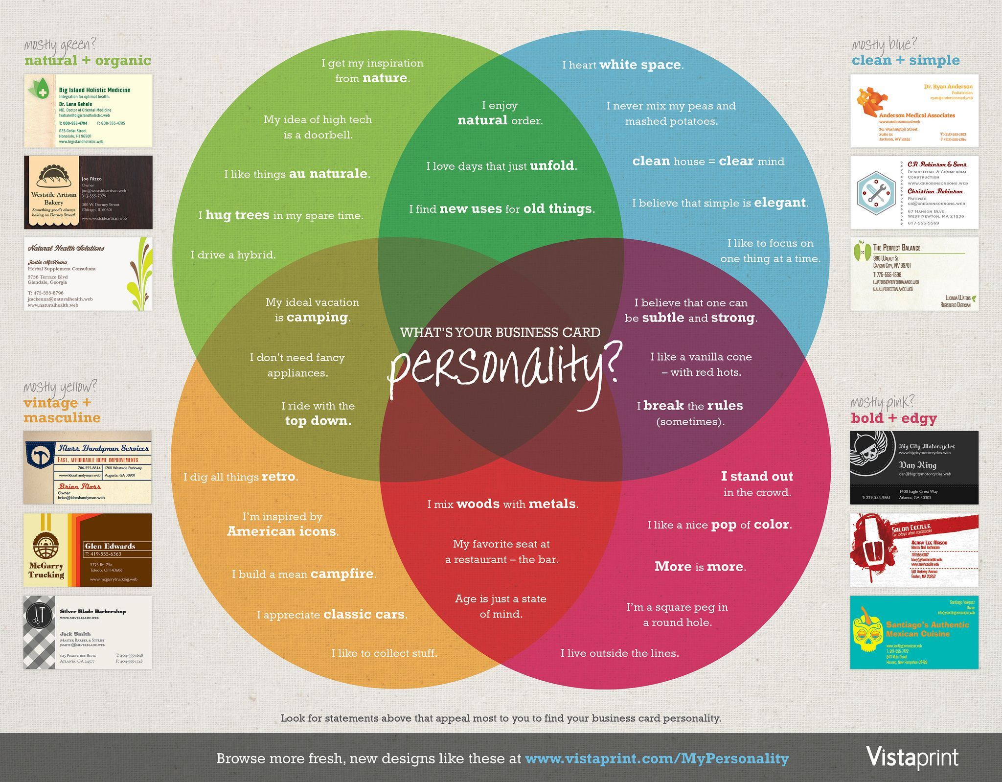 what s your business card personality infografías