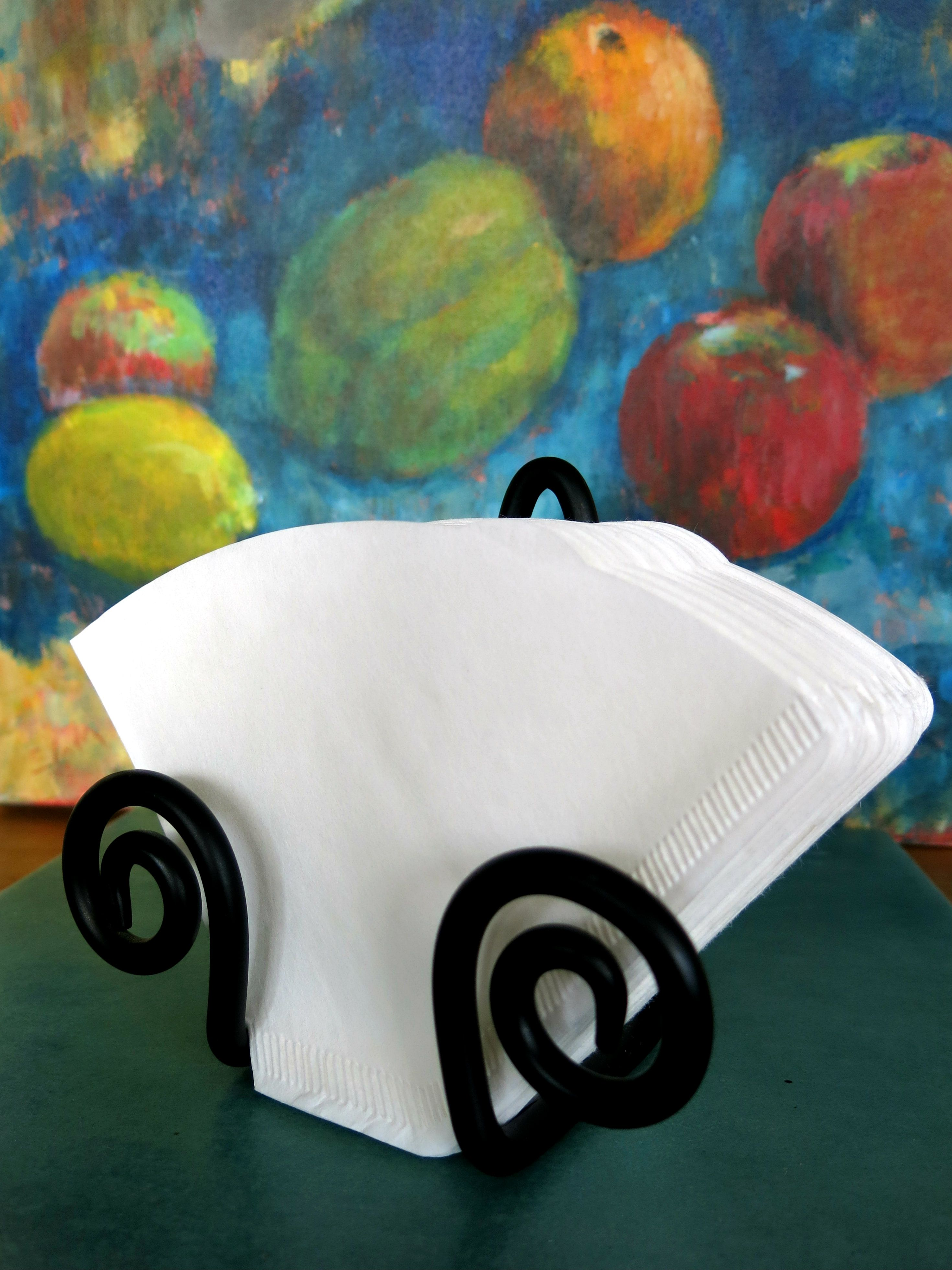 coffee filter holder (from IKEA...wall-mounted napkin holder or ...