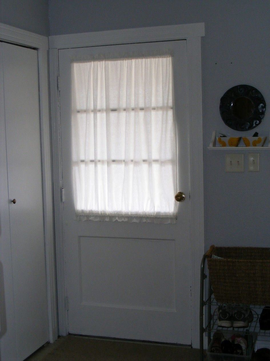 Decoration Tasteful Half Window Door Curtain With White Color Also