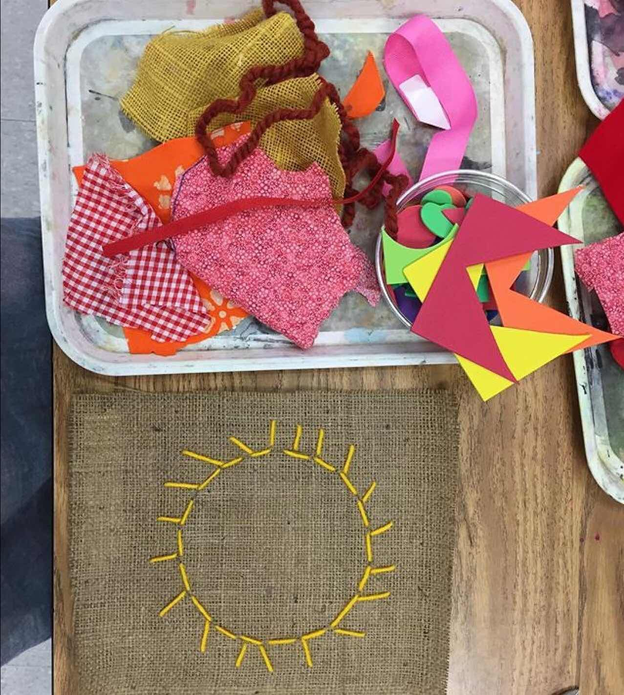 Kindergarten Sun Stitching In With Images