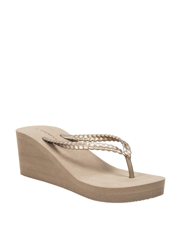 Wedge flip flops, Wedges, Flip flop sandals