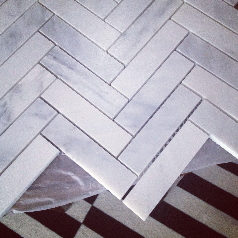 Kitchen Backsplash 1x4 Oriental White Marble Herringbone Kitchen Backsplash Backsplash Home Remodeling