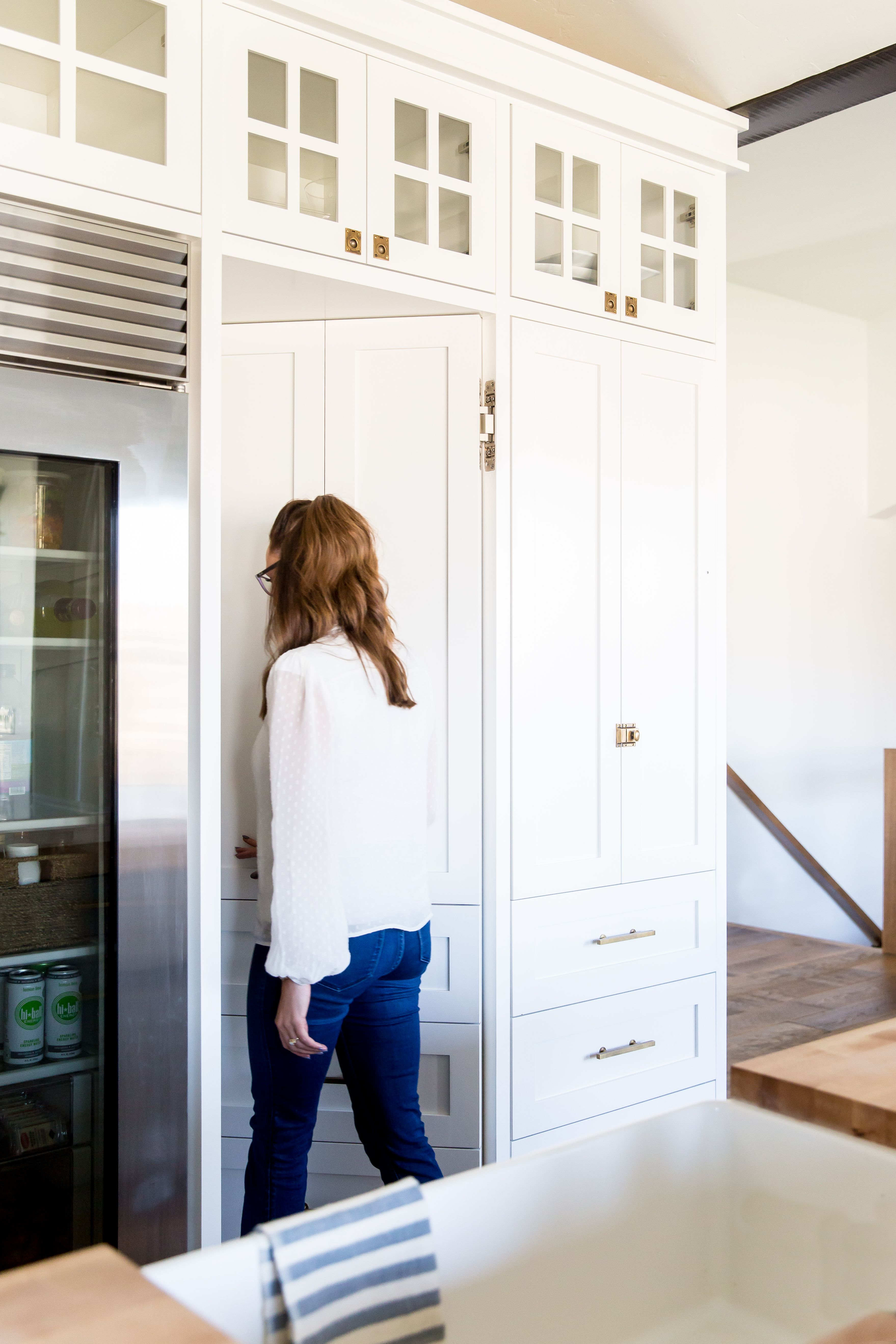 hidden pantry k i t c h e n s farmhouse pantry cabinets kitchen rh pinterest com
