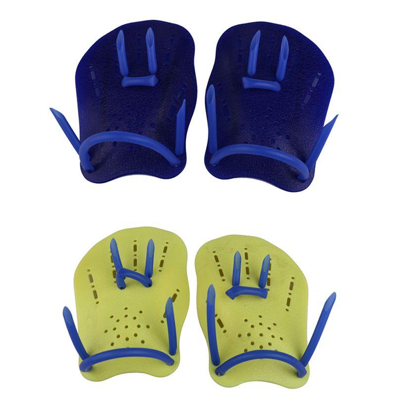 Azul Mergulho Luvas de Natação Com Membranas Dedo Fin Pá Mão Mergulho Desgaste S/M/L BHU2