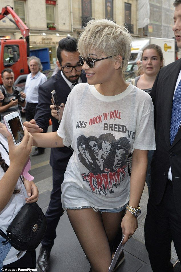 Rita Ora smiles after stealing Chanel's Paris catw