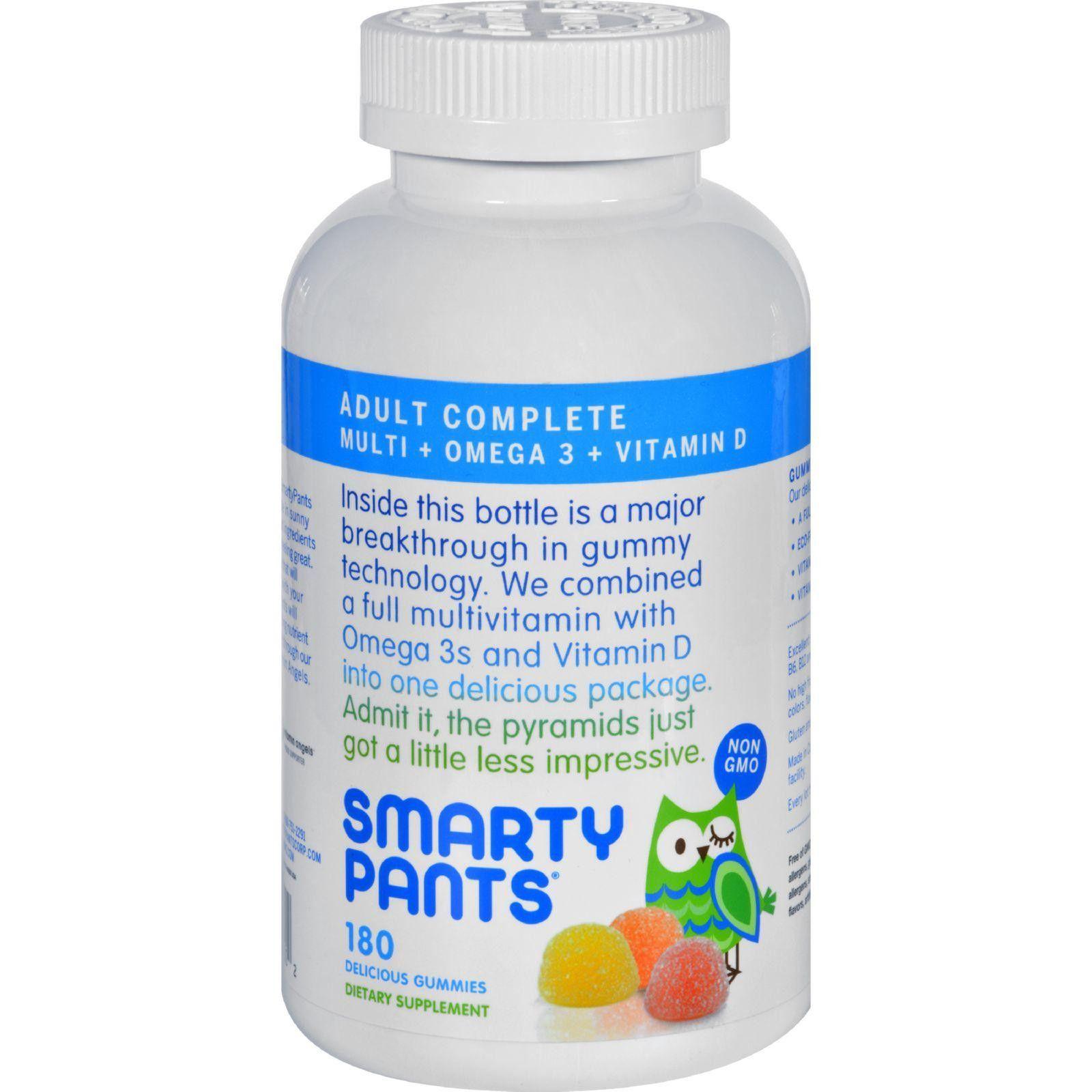 Smartypants All In One Multivitamin Plus Omega 3 Plus Vitamin D Gummies 180 Pack Multivitamin Vitamins Vitamin D