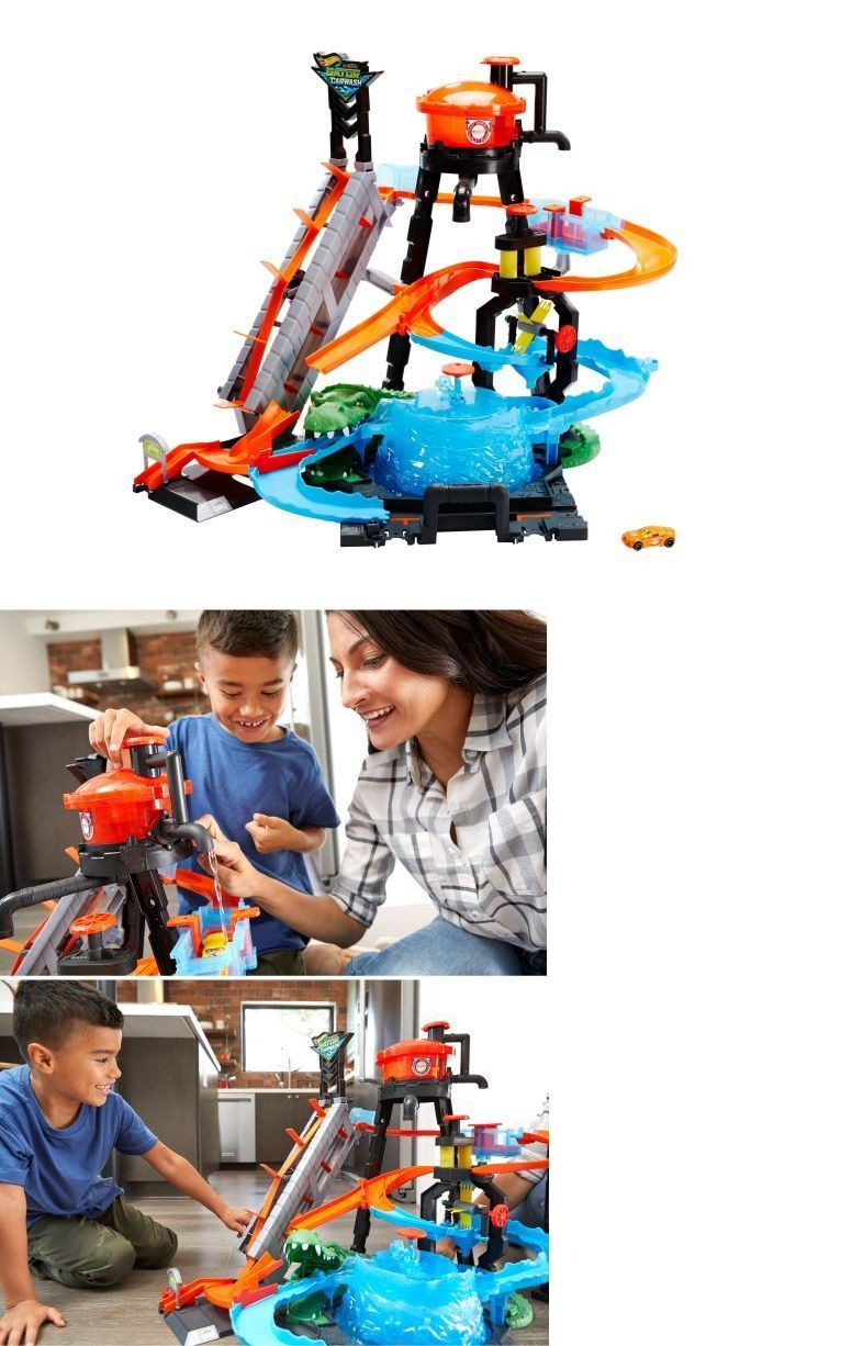 Play Sets 177918 Hot Wheels Ultimate Gator Car Wash Play Set With