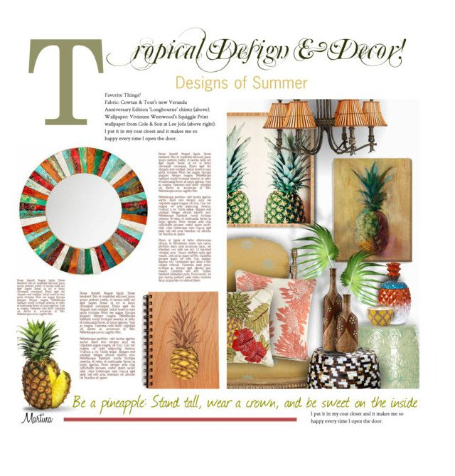 """""""Tropical Design & Decor!"""" by thewondersoffashion ❤ liked on Polyvore featuring interior, interiors, interior design, home, home decor, interior decorating, Cost Plus World Market, Pier 1 Imports, Safavieh and Palecek"""