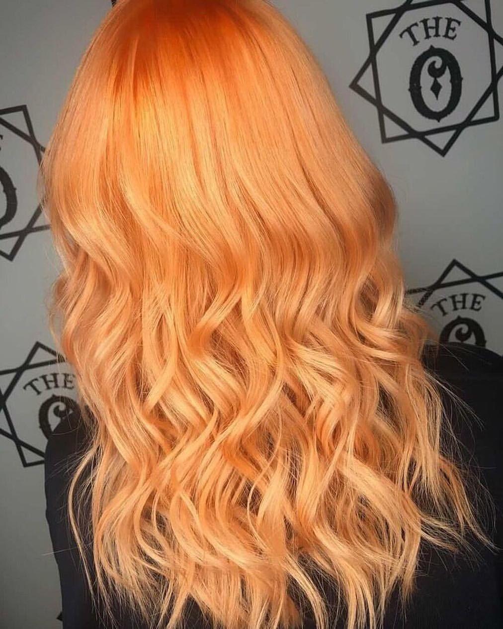 Peach Sunset Hair By Nattylouuuhair With Our