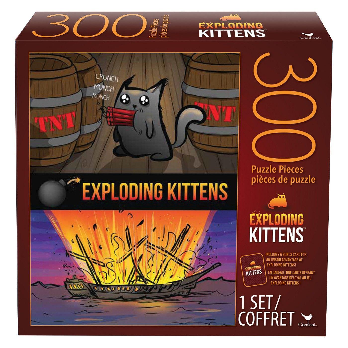 300pc Exploding Kittens Puzzle Affiliate Pc Sponsored Exploding Puzzle Exploding Kittens Kitten Puzzles Kittens