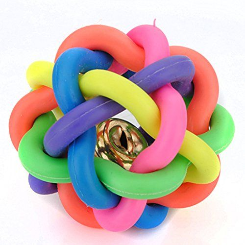 Corner Biz Pet 45cm Petsmart Dog Toys Woven Rainbow Color Rubber Bell Ball Learn More By Visiting The Image Lin Dog Toy Ball Petsmart Dog Dog Toys