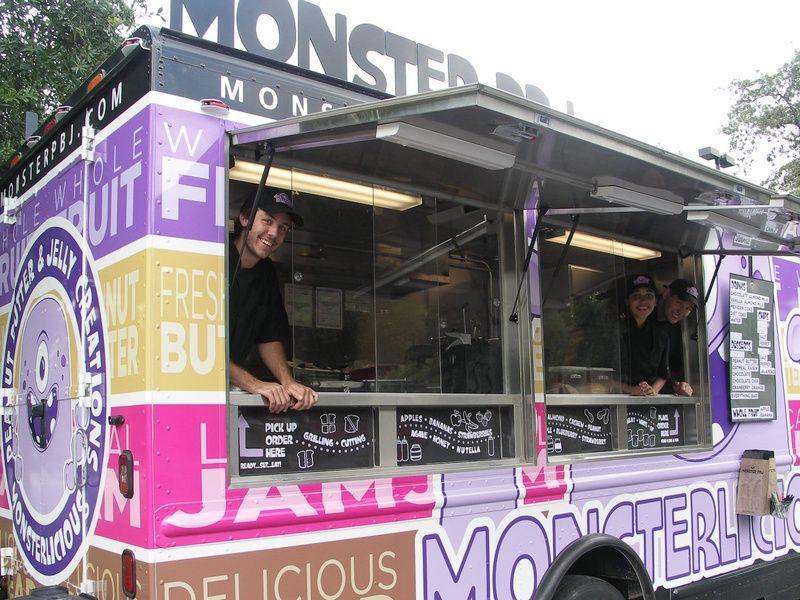 Food trucks gone mild peanut butter and jelly sandwich