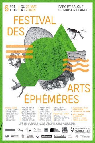 Arts éphémères le 22 mai, jour du vernissage à 18h30, de performances du Ballet National de Marseille, du Théâtre du Centaure et de la Cité de la Musique.