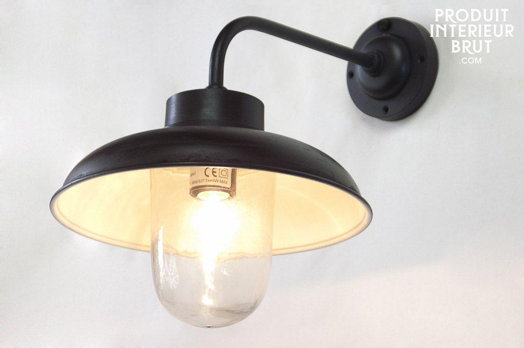Lampe tanche typ e r tro pour l 39 int rieur et l 39 ext rieur for Applique lumiere exterieur