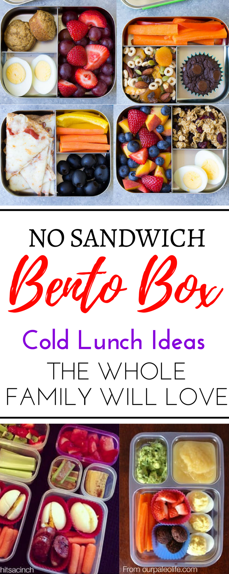 Over 100 Easy Recipes And School Lunch Ideas For Kids Teens These Cold No Sandwich Bento Box Are Perfect Picky Eaters