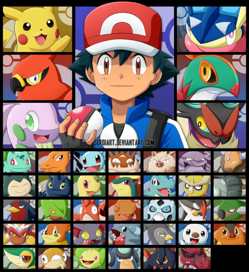 Pokemon - Ash's Journey by SergiART on DeviantArt