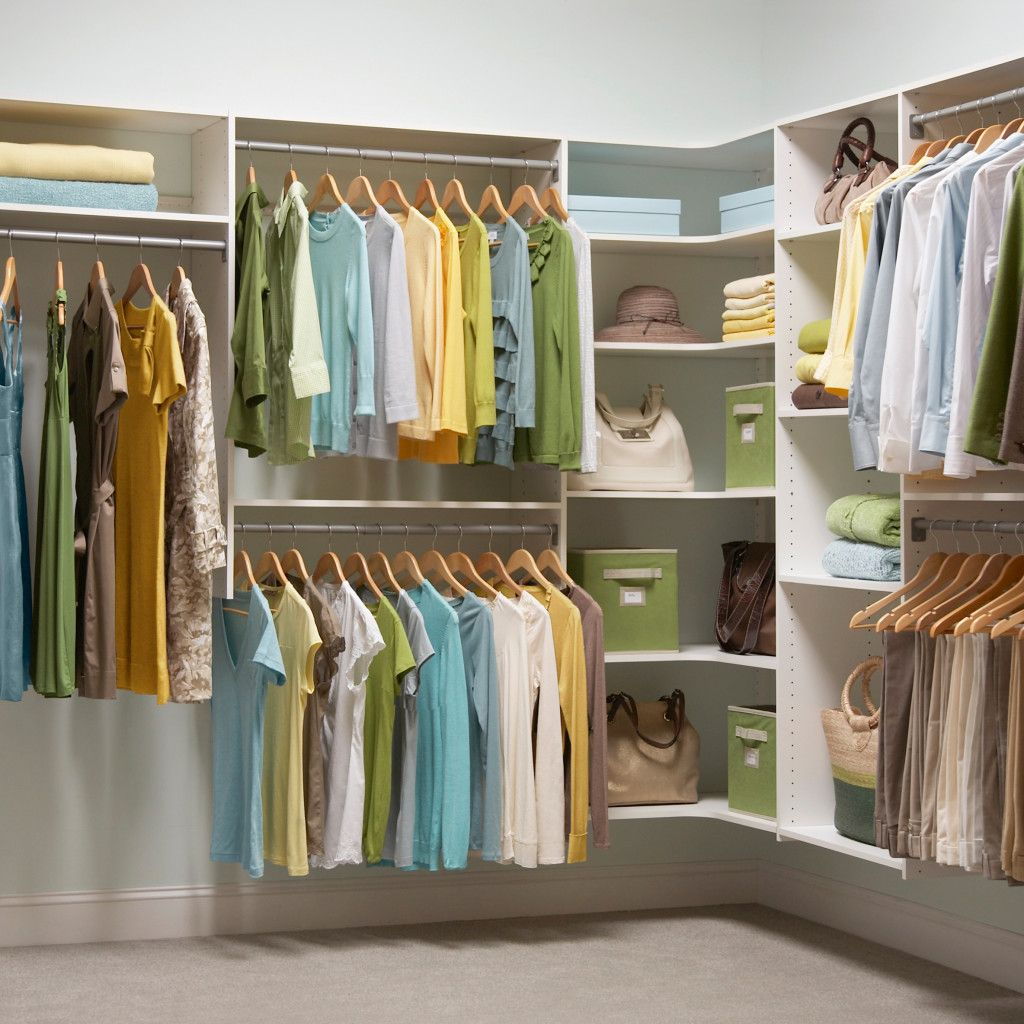 Helpful walk in closet corner ideas for small flats for Closet shelving ideas