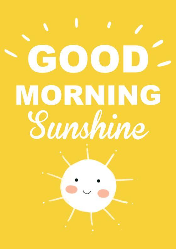 Goodmorning sunshine Free Printables by Silvia Lonardo (Cosedamamme)
