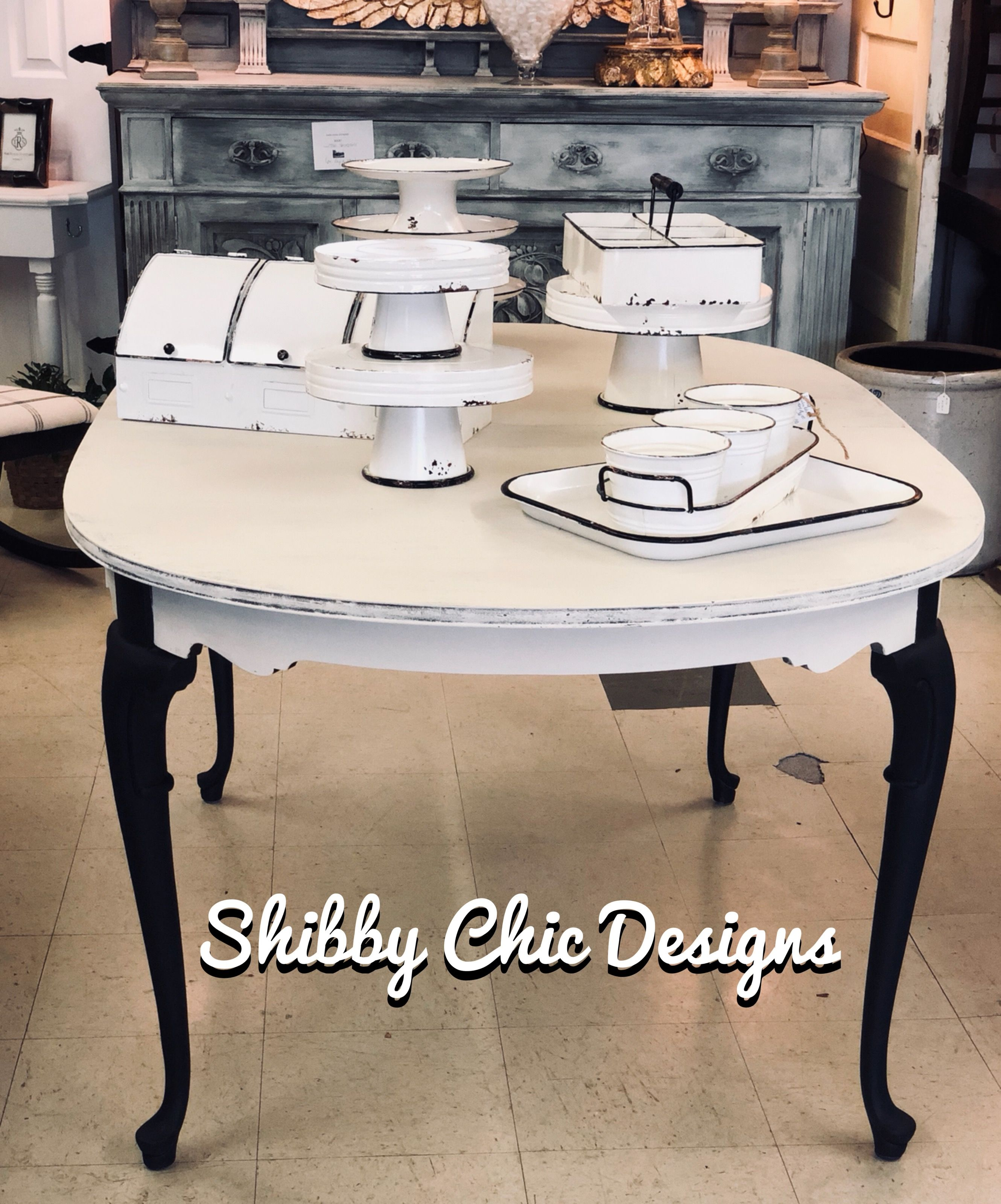 Chalk Painted In Annie Sloan Old White And Old Ochre