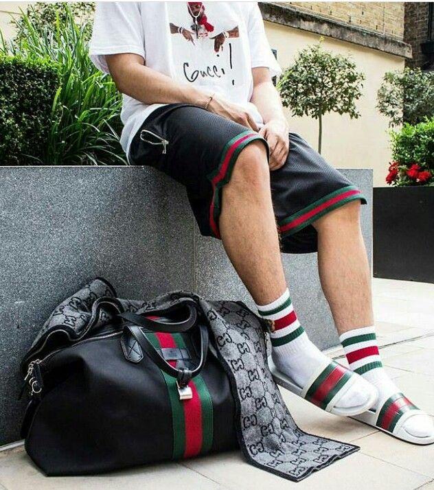 7459b10a1342 Shirt  Supreme  Shorts  Mintcrew  Shoes  Gucci Slides