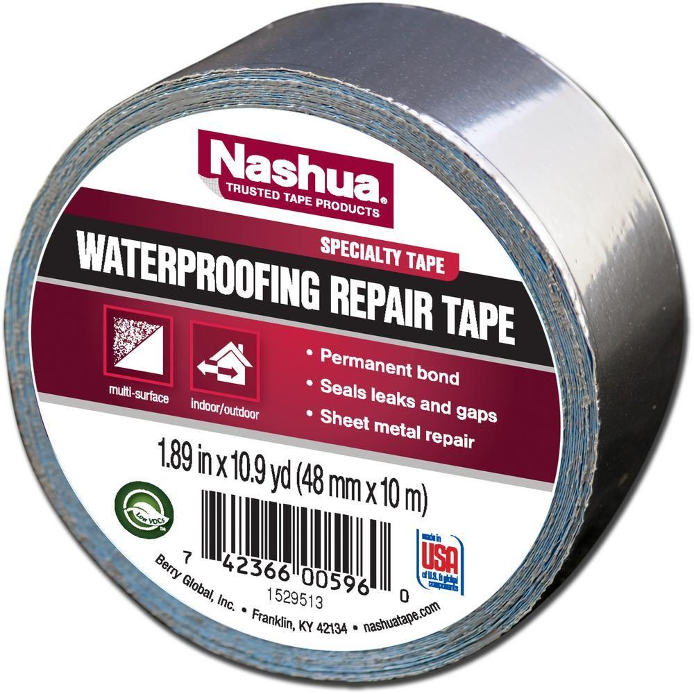 Nashua Tape 1 89 In X 10 9 Yd Waterproofing Repair Tape 1207802 The Home Depot Repair Tape Nashua Tape Nashua