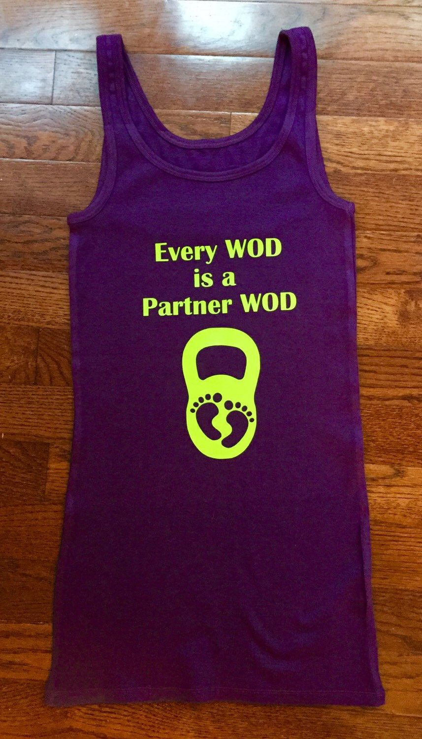 fb29257be89cd Cross Fit Tank Top / Cross Fit Shirt / Exercise Shirt / Funny Pregnancy  Announcement Shirt / Cross Fit Baby / Pregnancy Reveal / Partner WOD |  Crossfit Baby ...