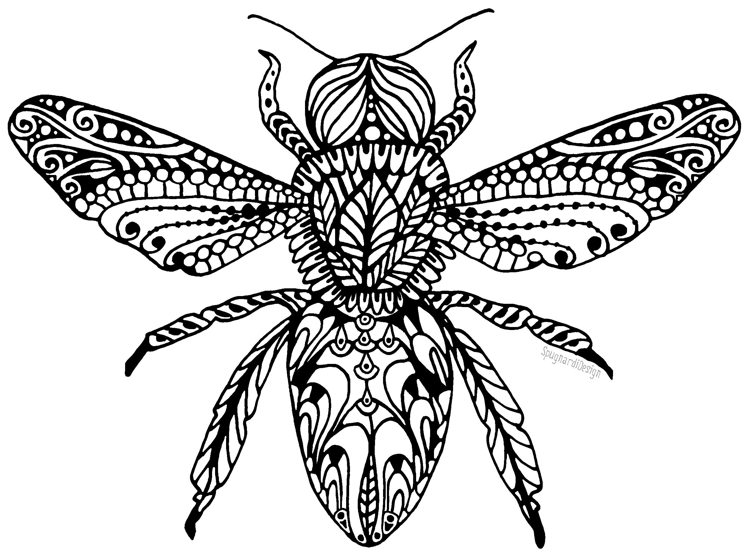 Zen doodle colour - Zen Doodle Honey Bee Honeybees Savethehoneybee Zendoodle