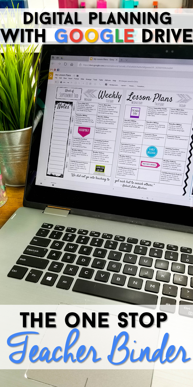 Editable Teacher Binder | GOOGLE Drive | Digital Teacher Planner ...