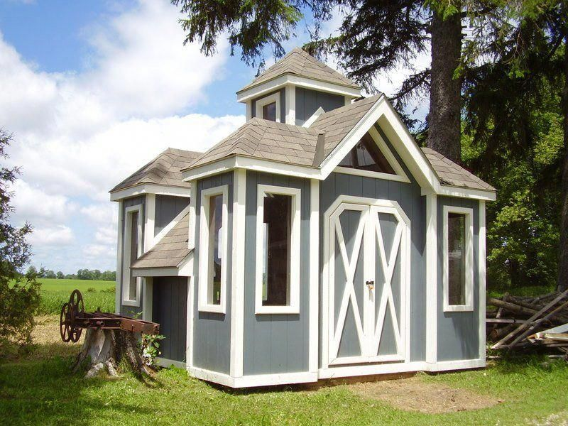 This is a playhouse I built for my grandkids .It is 12 ft