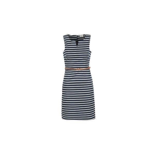 Vero Moda PEKAYA Dress (€39) ❤ liked on Polyvore featuring dresses, blue, short blue dress, vero moda dresses, mini dress, short dresses and vero moda