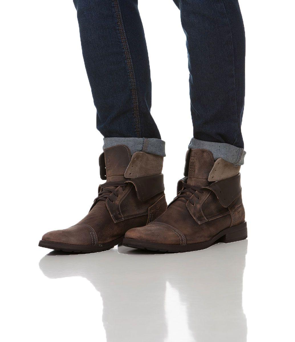 Bota masculina Com cadarço Material  couro Marca  Democrata COLEÇÃO INVERNO  2015 Veja outras opções de botas masculinas. Sobre a Democrata A Democratas  ... d896695fe36ea
