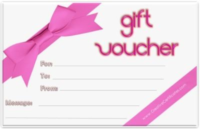 Free printable gift voucher template. Instant download. No registration required.