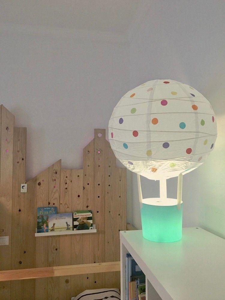 Ikea Hacks Lampen Regolit Papierlampe Tvars Tischleuchte Diy Heissluftballon Camerette Arredamento Casa Ikea