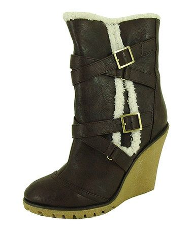Take a look at this Brown Tiana Buckle Boot by Qupid on #zulily today!