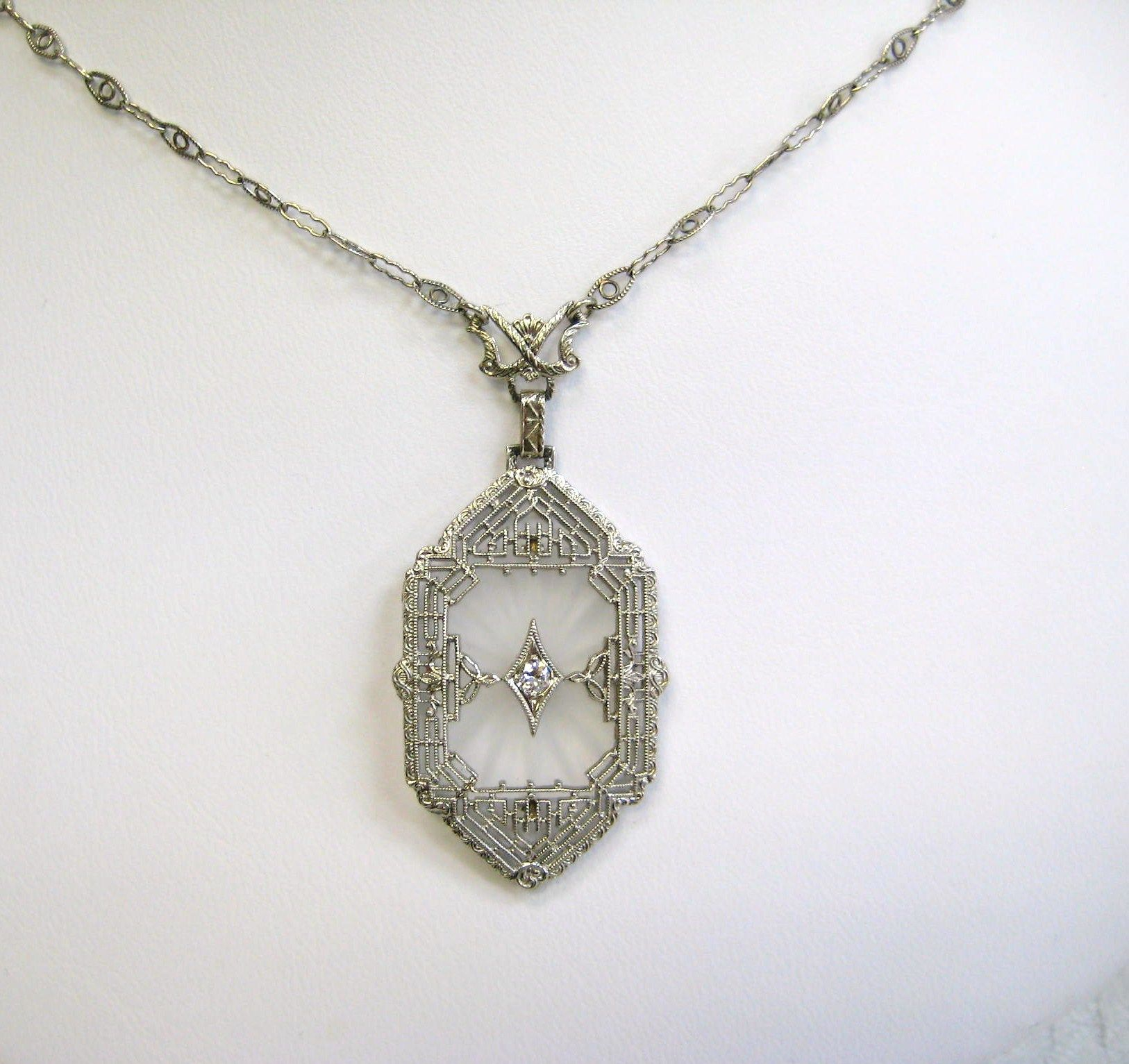 Vintage necklaces vintage crystal and diamond necklace vintage necklaces vintage crystal and diamond necklace mozeypictures Image collections